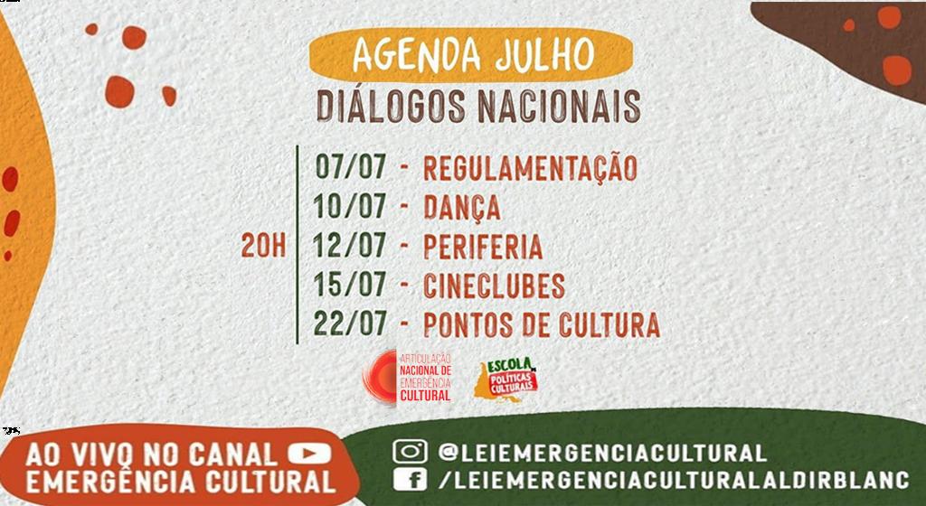 Diálogos Nacionais: temas e segmentos da cultura brasileira em debate no Canal Emergência Cultural no YouTube