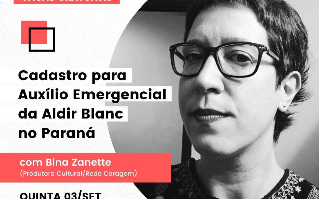 Lei Aldir Blanc: Auxilio Emergencial no Paraná – AULÃO 03/09