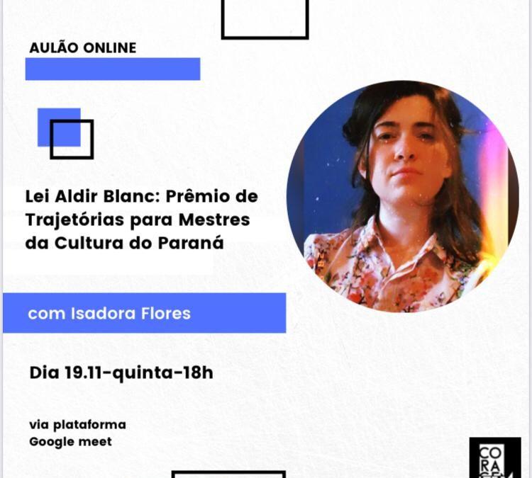 AULÃO Prêmio Trajetórias 19/11 às 18h